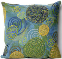 Trans-Ocean Visions Iii Pillow Graffiti Swirl 4109/06 Cool Area Rug