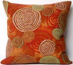 Trans-Ocean Visions Iii Pillow Graffiti Swirl 4109/24 Warm Area Rug