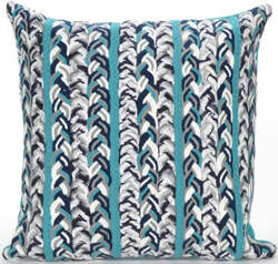 Trans-Ocean Visions Iii Pillow Braided Stripe 4125/04 Ocean Area Rug