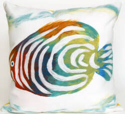 Trans-Ocean Visions Iii Pillow Rainbow Fish 4152/12 Pearl Area Rug