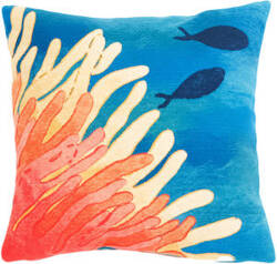 Trans-Ocean Visions III Pillow Reef And Fish 4211/17 Orange