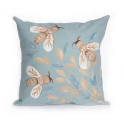 Trans-Ocean Visions Iii Pillow Bees 431804 Aqua