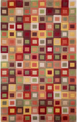 Trans-Ocean Amalfi Square In Square 1966/27 Autumn Area Rug