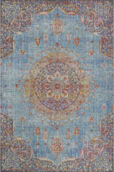 Trans-Ocean Beaux Circle Medallion 7342/04 Blue Area Rug