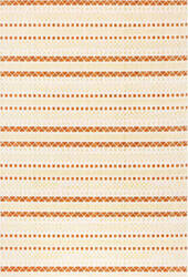 Trans-Ocean Beaux Texture Stripe 7347/18 Orange Area Rug