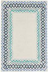 Trans-Ocean Capri Ethnic Border 1607/03 Blue Area Rug