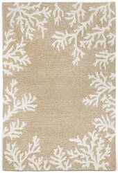 Trans-Ocean Capri Coral Border 1620/12 Neutral Area Rug