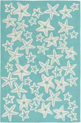 Trans-Ocean Capri Starfish 1667/04 Aqua Area Rug