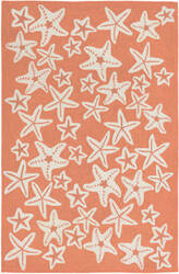 Trans-Ocean Capri Starfish 1667/18 Coral Area Rug