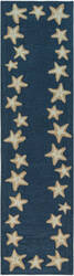 Trans-Ocean Capri Starfish Border 1710/33 Blue Area Rug