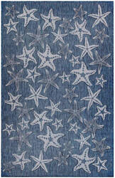 Trans-Ocean Carmel Starfish 8415/33 Navy Area Rug
