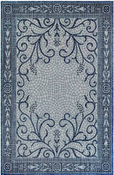 Trans-Ocean Carmel Mosaic 8429/33 Navy Area Rug