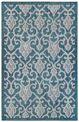 Trans-Ocean Carmel Baroque 8433/94 Blue Area Rug