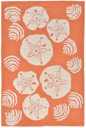 Trans-Ocean Frontporch Shell Toss 1408/18 Coral Area Rug