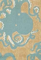 Trans-Ocean Frontporch Octopus 1432/04 Aqua Area Rug