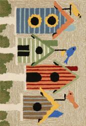 Trans-Ocean Frontporch Birdhouses 1441/44 Multi Area Rug