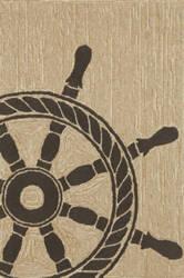 Trans-Ocean Frontporch Ship Wheel 1456/48 Black Area Rug