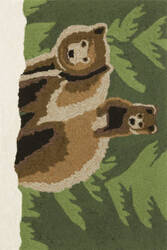 Trans-Ocean Frontporch Bear Family 1463/16 Forest Area Rug