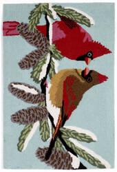 Trans-Ocean Frontporch Cardinals 1538/03 Sky Area Rug