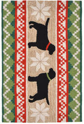 Trans-Ocean Frontporch Nordic Dogs 1565/12 Neutral Area Rug