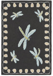 Trans-Ocean Frontporch Dragonfly 2048/47 Midnight Area Rug