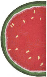 Trans-Ocean Frontporch Watermelon Slice 1555/24 Red Area Rug