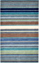 Trans-Ocean Inca Stripes Blue Area Rug