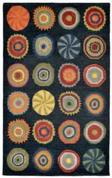 Trans-Ocean Inca Pop Circles Blue Area Rug