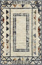 Trans-Ocean Jasmine Mosaic 7016/02 Ivory Area Rug