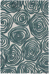 Trans-Ocean Lalunita Block Print 6040/33 Navy Area Rug