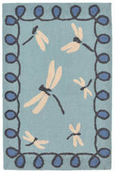 Trans-Ocean Napa Dragonfly Blue Area Rug