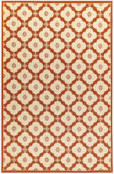 Trans-Ocean Riviera Modern Tile 7635/24 Red Area Rug