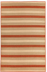 Trans-Ocean Riviera Stripe 7640/24 Red Area Rug