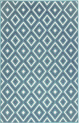 Trans-Ocean Riviera Nested Diamond 7641/33 Navy Area Rug