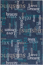 Trans-Ocean Riviera Happy Words 7653/33 Navy Area Rug