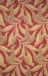 Trans-Ocean Ravella Leaf 1902/24 Red Area Rug