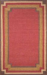 Trans-Ocean Ravella Border 1905/24 Red Area Rug