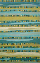 Trans-Ocean Seville Mosaic Stripe 9625/03 Blue Area Rug