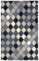 Trans-Ocean Seville Diamond Blue Area Rug