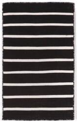 Trans-Ocean Sorrento Pinstripe Black Area Rug