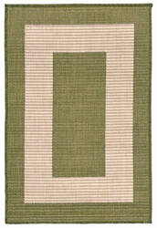 Trans-Ocean Terrace Border Green Area Rug