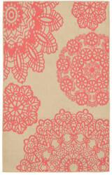 Trans-Ocean Terrace Crochet 1025/17 Coral Area Rug