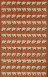 Trans-Ocean Terrace Elephants 1767/74 Terra Area Rug