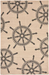 Trans-Ocean Terrace Shipwheel 1782/67 Neutral Area Rug