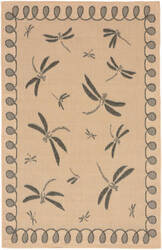 Trans-Ocean Terrace Dragonfly 1791/67 Neutral Area Rug