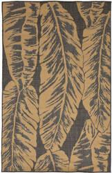 Trans-Ocean Terrace Banana Leaf 2770/82 Slate Area Rug