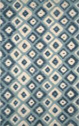 Trans-Ocean Visions Ii Ikat Diamonds 3095/04 Aqua Area Rug