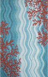Trans-Ocean Visions Iv Coral Reef 3255/03 Water Area Rug