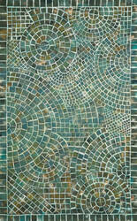Trans-Ocean Visions V Arch Tile 3257/03 Lapis Area Rug
