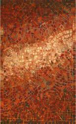 Trans-Ocean Visions V Arch Tile 3257/24 Red Area Rug